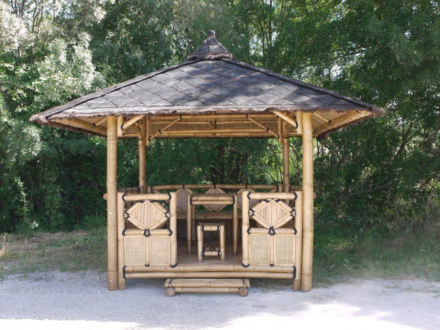 abri jardin bambou
